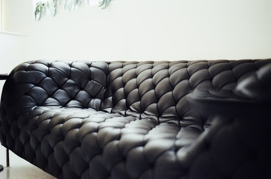 Free stock photo of black, couch, furniture, living room