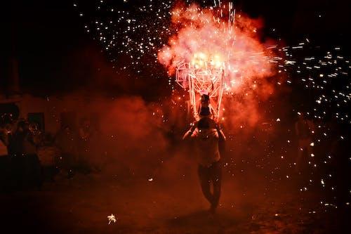 댄스, 멋진, 밤, 불의 무료 스톡 사진