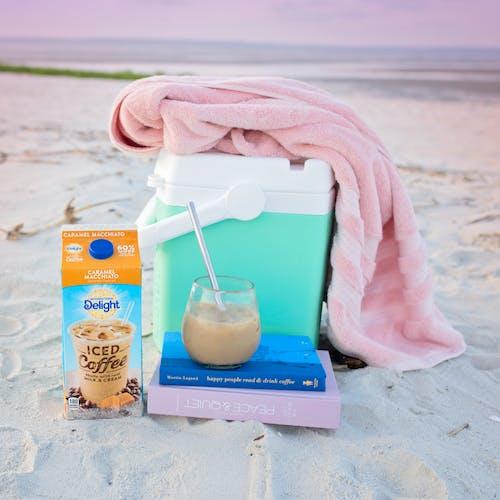 คลังภาพถ่ายฟรี ของ กาแฟ, ชายหาด, เย็น