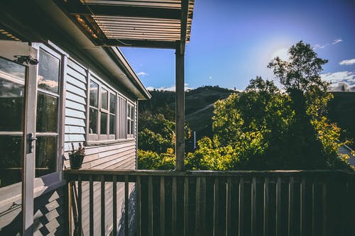 Imagine de stoc gratuită din acasă, apus, arbore, balcon
