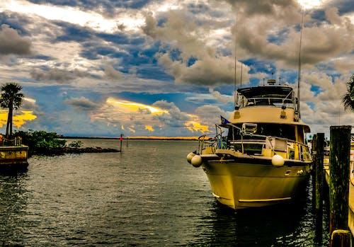 Photos gratuites de bateau, beau coucher de soleil, coucher de soleil, dunedin
