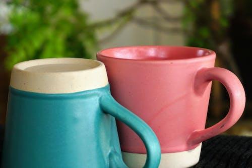 Ingyenes stockfotó bézs, csészék, kék, kőedény témában