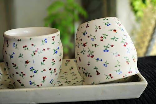 Ingyenes stockfotó csészék, glossza, kőedény, közelkép témában