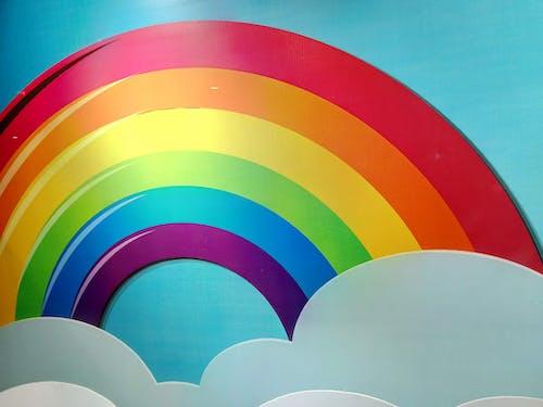 Ingyenes stockfotó égszínkék, fehér, felhő, ibolya témában