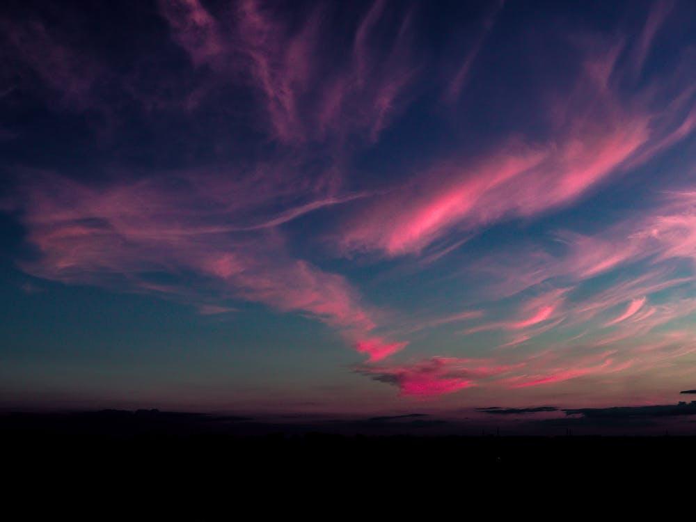 傍晚的天空, 多雲的天空, 天空