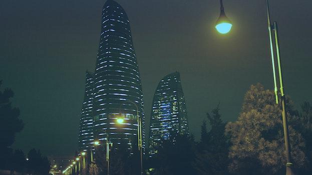 Free stock photo of light, city, skyline, buildings