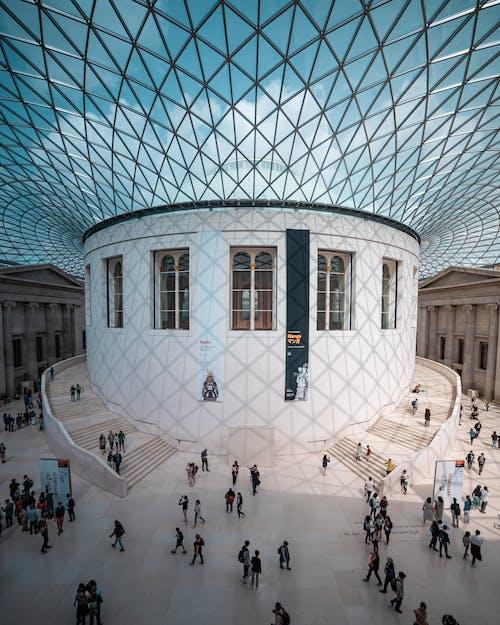 人, 光, 光線, 博物館 的 免费素材照片
