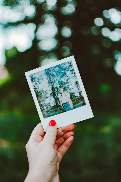 Immagine gratuita di film istantaneo, foto, mano, polaroid