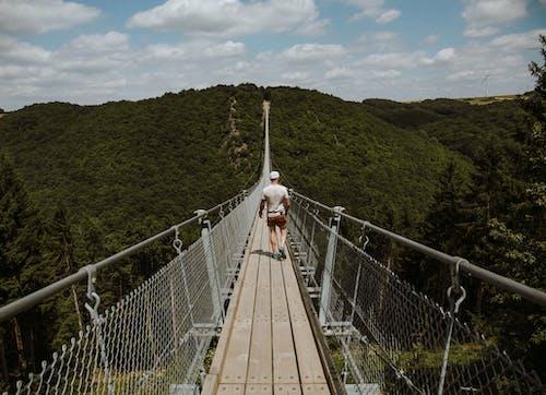 Kostnadsfri bild av bro, gående, gångbro, man