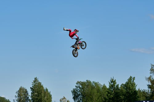 Free stock photo of #motorcycle, freestyle, jump, motocross