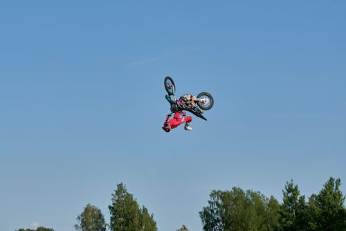 Man Flipping With Dirt Bike