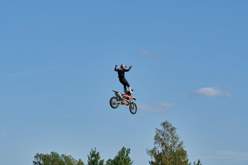 Person  Doing  A Motorcycle Trick