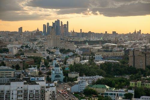 Fotobanka sbezplatnými fotkami na tému mesto, Moskva, panoráma, výhľad na mesto