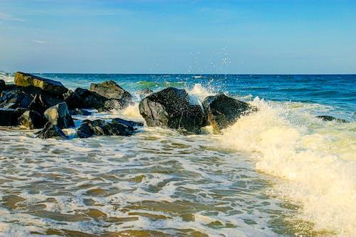 Free stock photo of beach, seafoam, tide