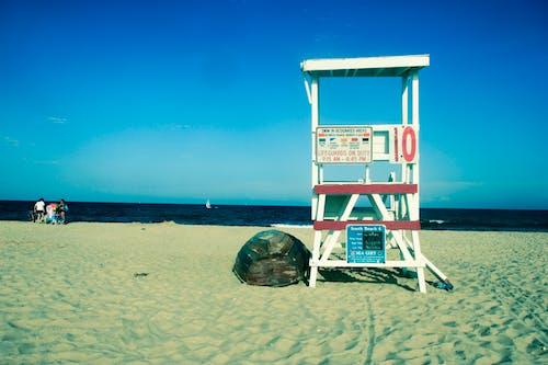 Free stock photo of beach, lifeguard chair, Lifeguard stand, lifeguard tower