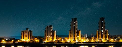 Foto profissional grátis de ao ar livre, fotografia noturna, Londres, via láctea