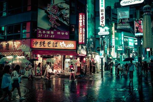 夜, 日本, 東京, 渋谷区の無料の写真素材
