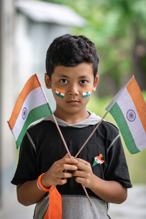 Free stock photo of 15th August, 73rd independent day, boy