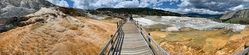 Free stock photo of landscape, mammoth springs, panoramic, scenic