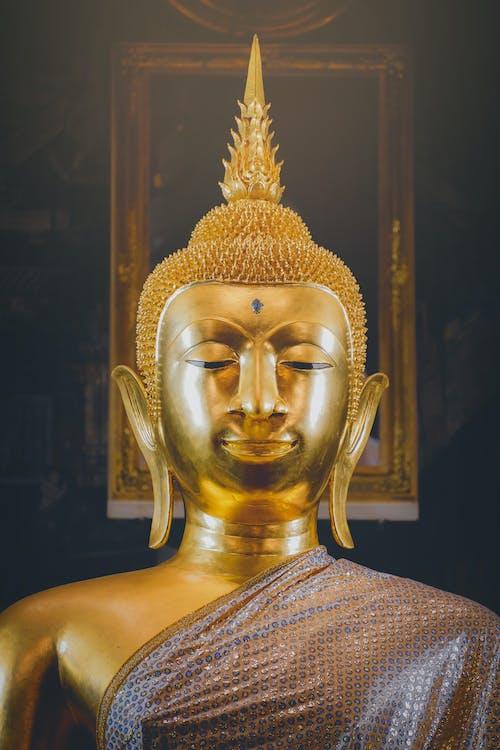 คลังภาพถ่ายฟรี ของ งานปั้น, ทอง, พระพุทธเจ้า, รูปปั้น