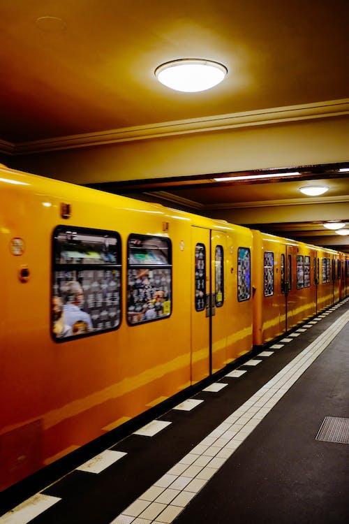 Yellow Moving Train