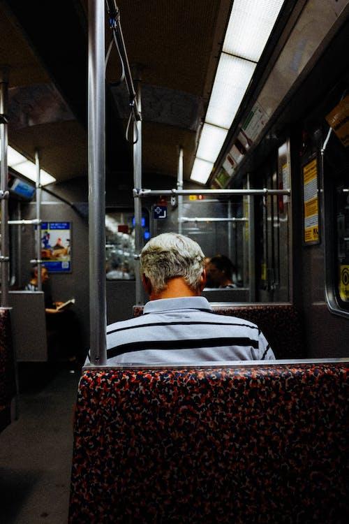 交通系統, 人, 坐, 後視圖 的 免費圖庫相片