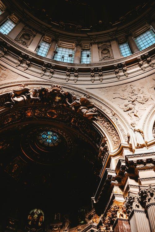 คลังภาพถ่ายฟรี ของ มหาวิหาร, สถาปัตยกรรม, อาคาร, เพดาน