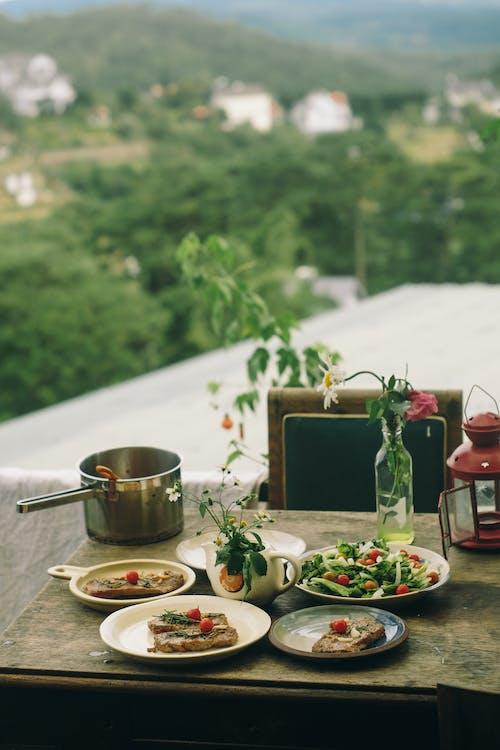 午餐, 沙拉, 表格, 食物 的 免费素材照片