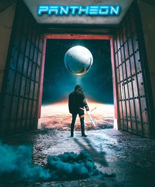 Free stock photo of astronomy, back view, destiny, doors