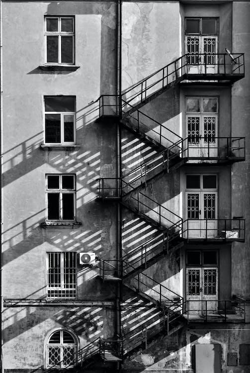 alb-negru, apartament, arhitectură