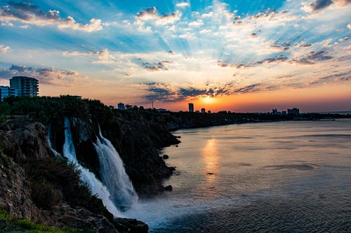 Fotos de stock gratuitas de amanecer, antalya, cascada, cascadas