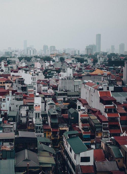 Foto profissional grátis de casas coloridas, Hanói, paisagem da cidade, Vietnã