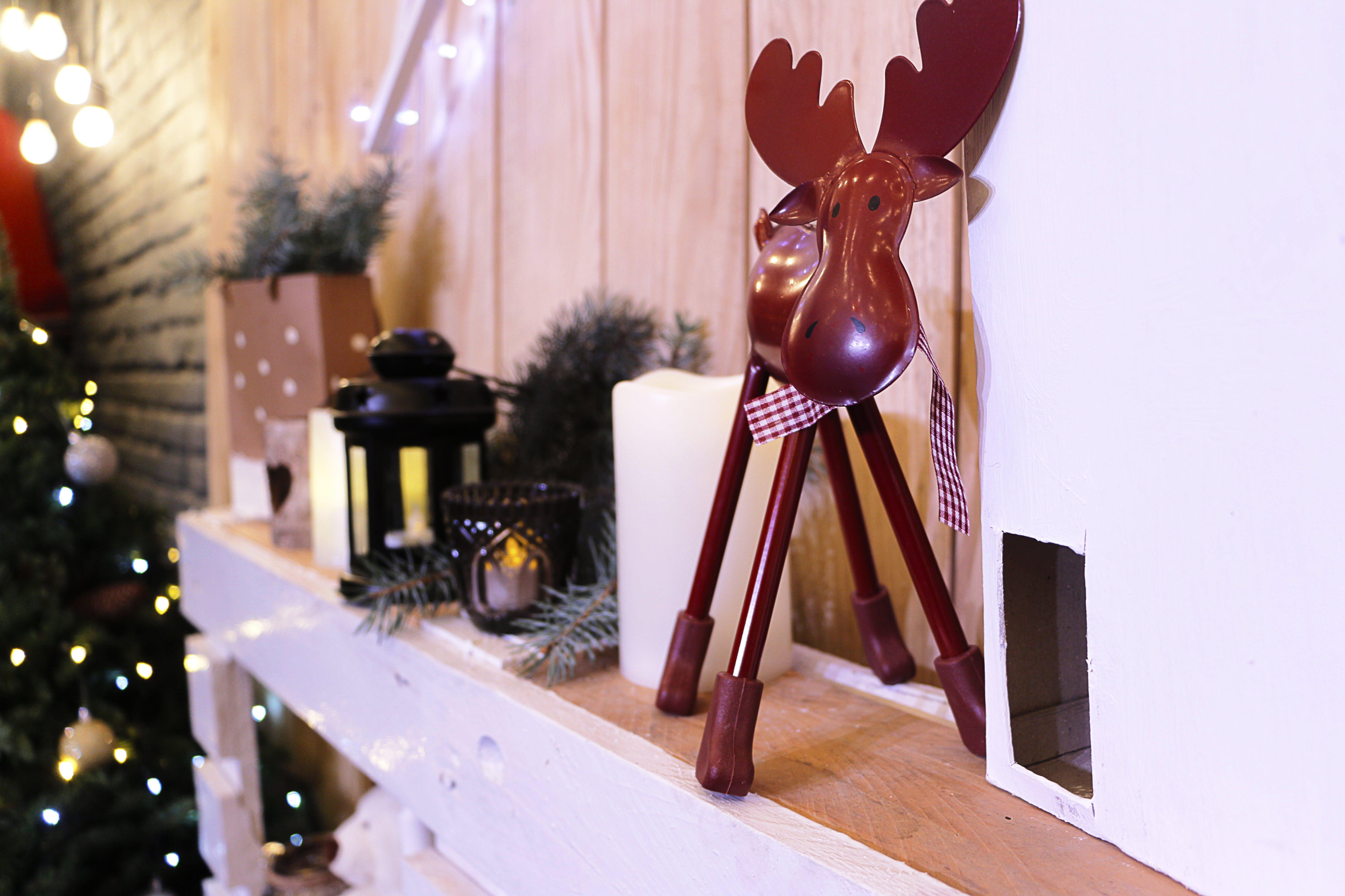 Reindeer Metal Ornament on Shelf