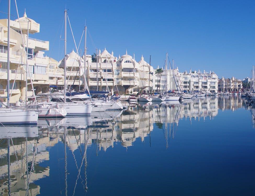 budovy, cestovní ruch, člun