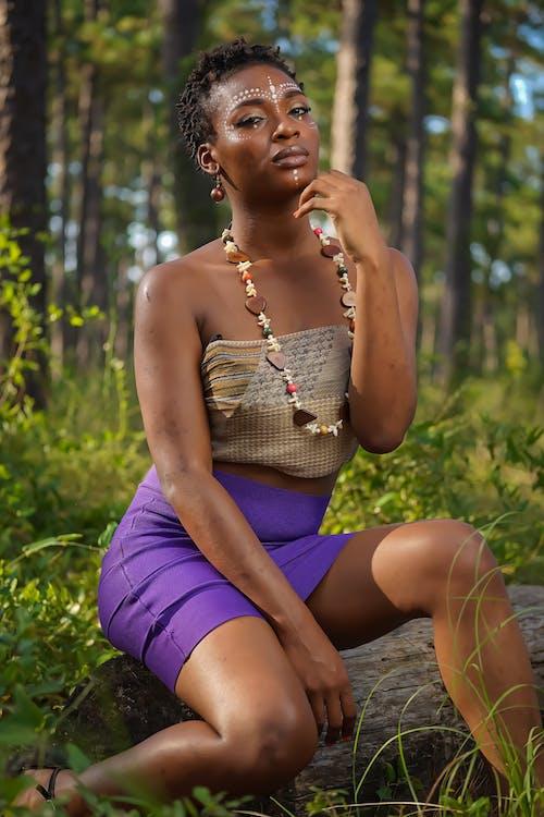 Ingyenes stockfotó afro-amerikai nő, álló kép, arcfestés, divat témában