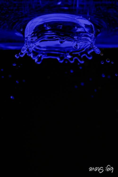 Ingyenes stockfotó absztrakt, kék, víz, vízcsepp témában