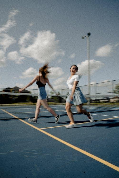 Бесплатное стоковое фото с азиатка, Активный, бег, девочки
