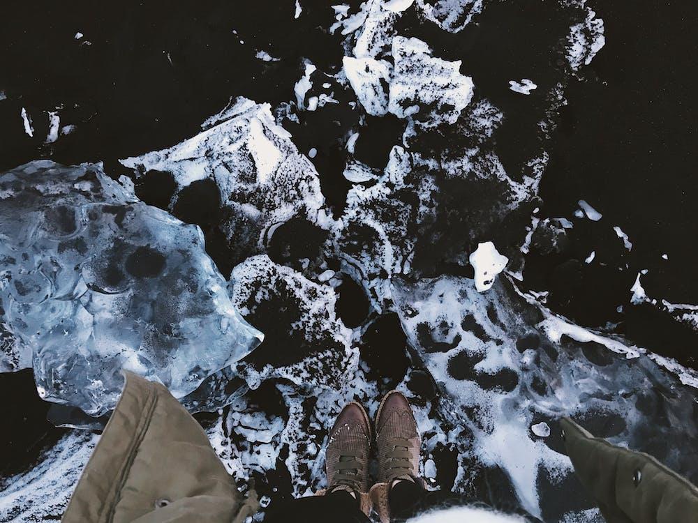 h2o, kámen, led