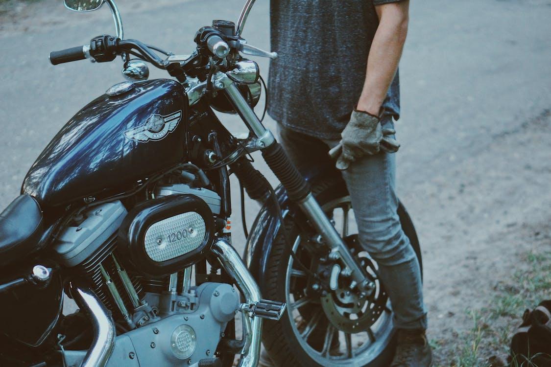 人, 停, 摩托車