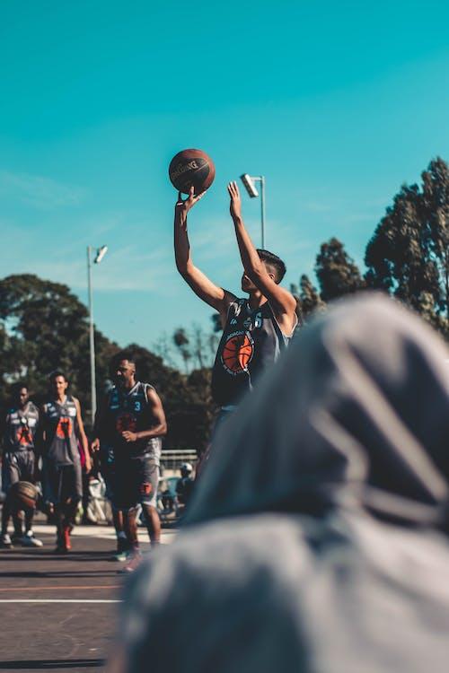 ánh sáng ban ngày, bắn, bóng rổ