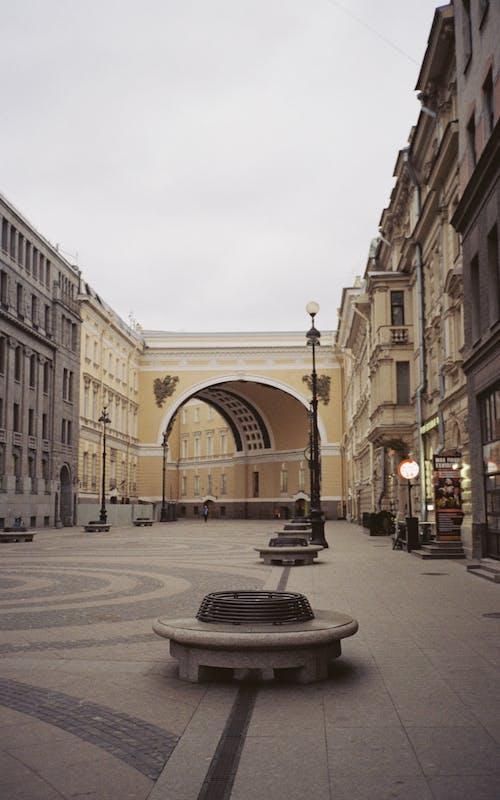 俄國, 城市, 清晨, 空蕩蕩的街道 的 免費圖庫相片