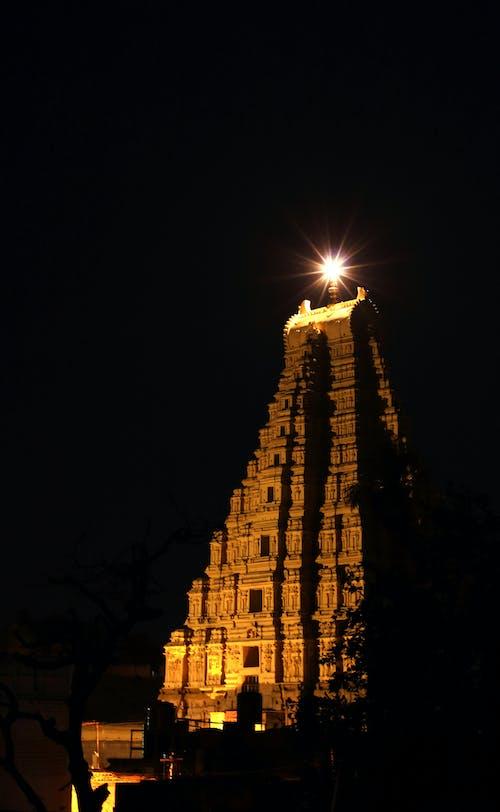 คลังภาพถ่ายฟรี ของ hampi, viroopaksha, กลางคืน, การท่องเที่ยว