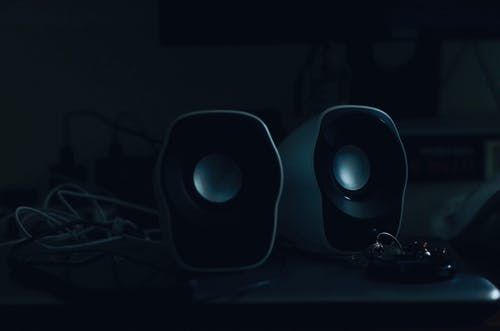 Free stock photo of dark, dark background, loudspeaker, night