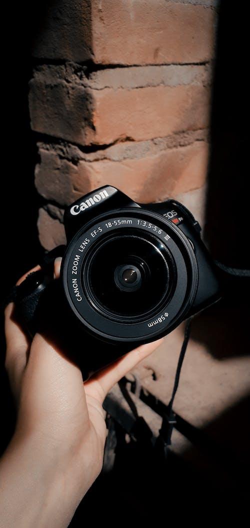 Free stock photo of black, camera build, canon, lens
