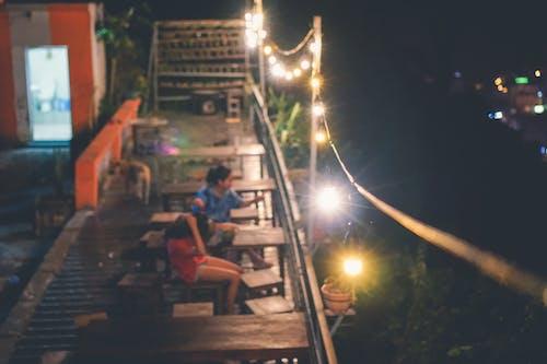 女孩, 晚上 的 免費圖庫相片