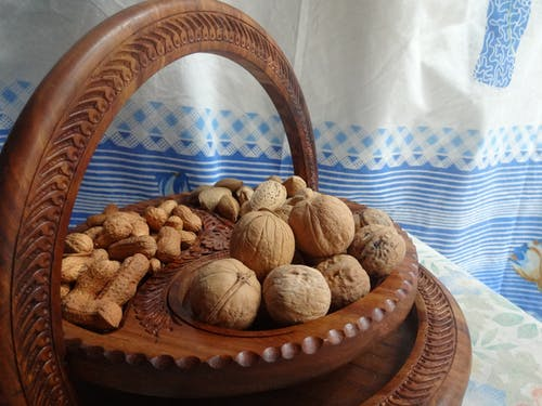 Free stock photo of dry fruit, wooden