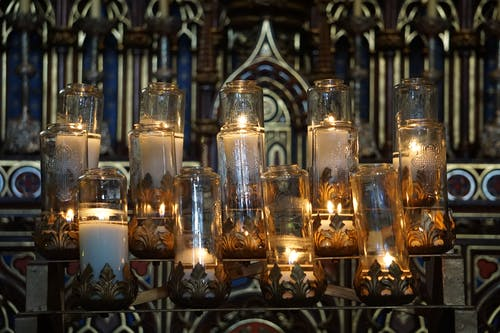 Free stock photo of canada, candle, church, lights