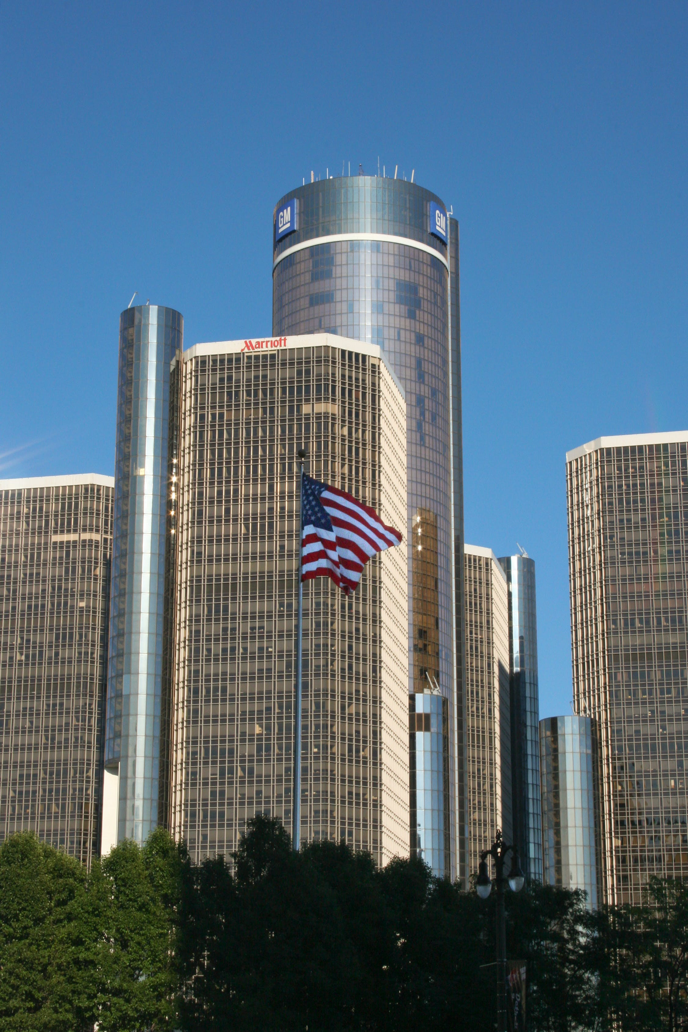 Free stock photo of gm headquarters, office building, skyscraper