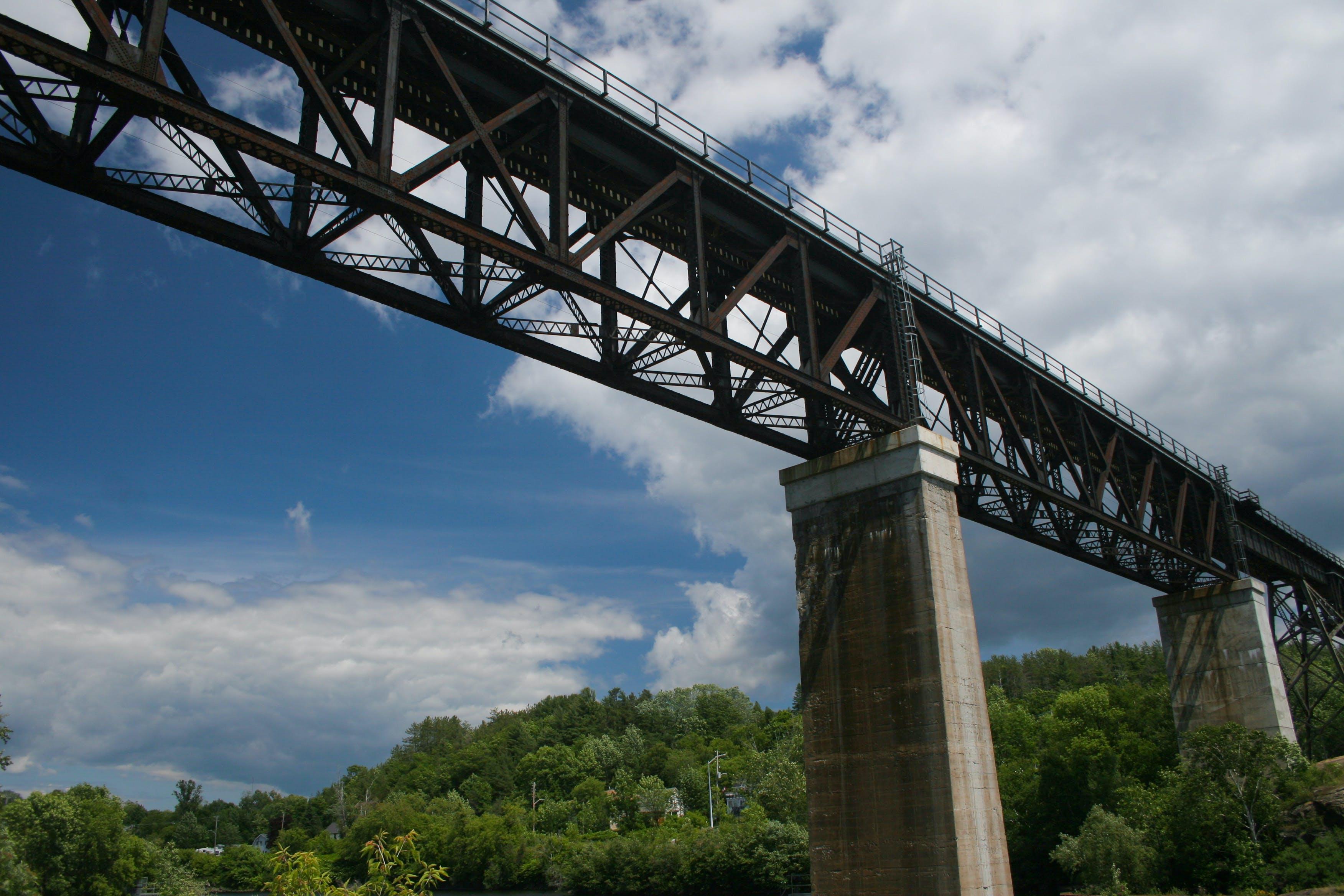 blue skies, bridge