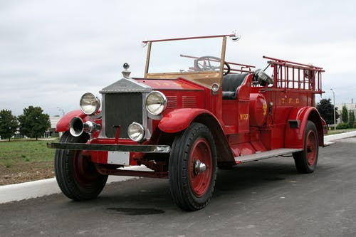 Free stock photo of fire truck, vintage car